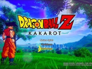 Dragon Ball Z: Kakarot - Startbildschirm