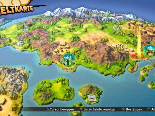 Weltkarte von Dragon Ball Z: Kakarot